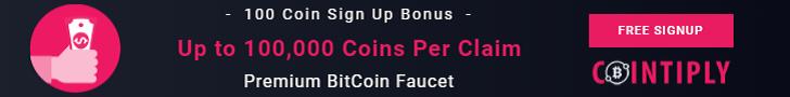 Premium Bitcoin Faucet - Cointiply.com
